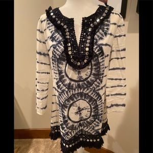 Tory Burch mirrored tunic